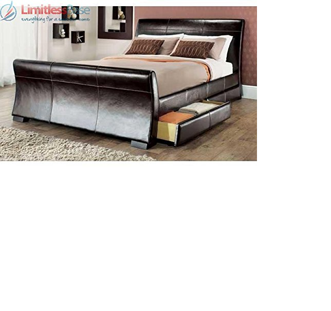 Pin by Alyia JA on Beds Double bed with storage, Leather