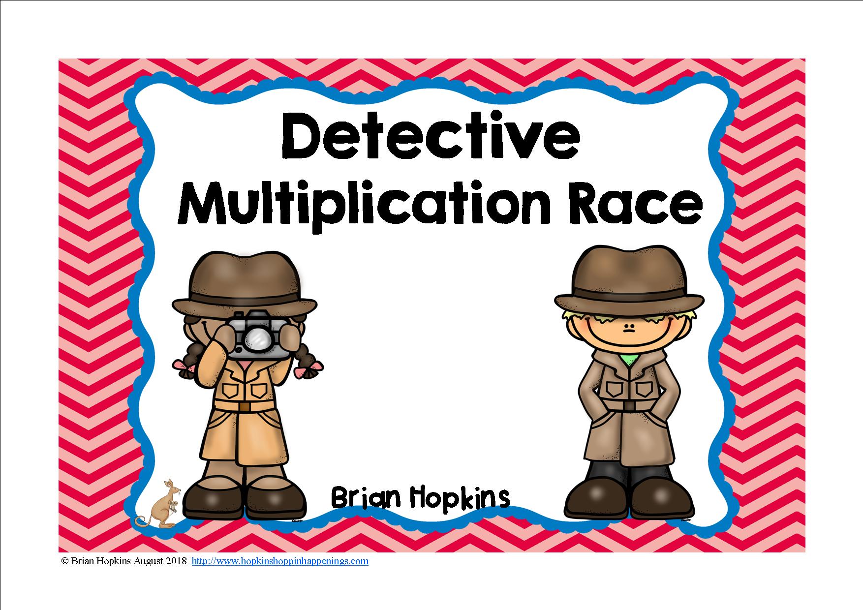 detective multiplication race | fourthgradefriends | pinterest