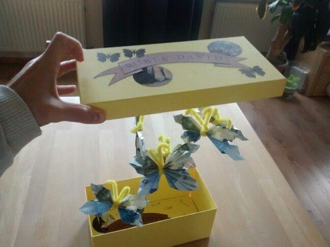 Geld Geschenk zur Hochzeit Geld zu Schmetterlingen