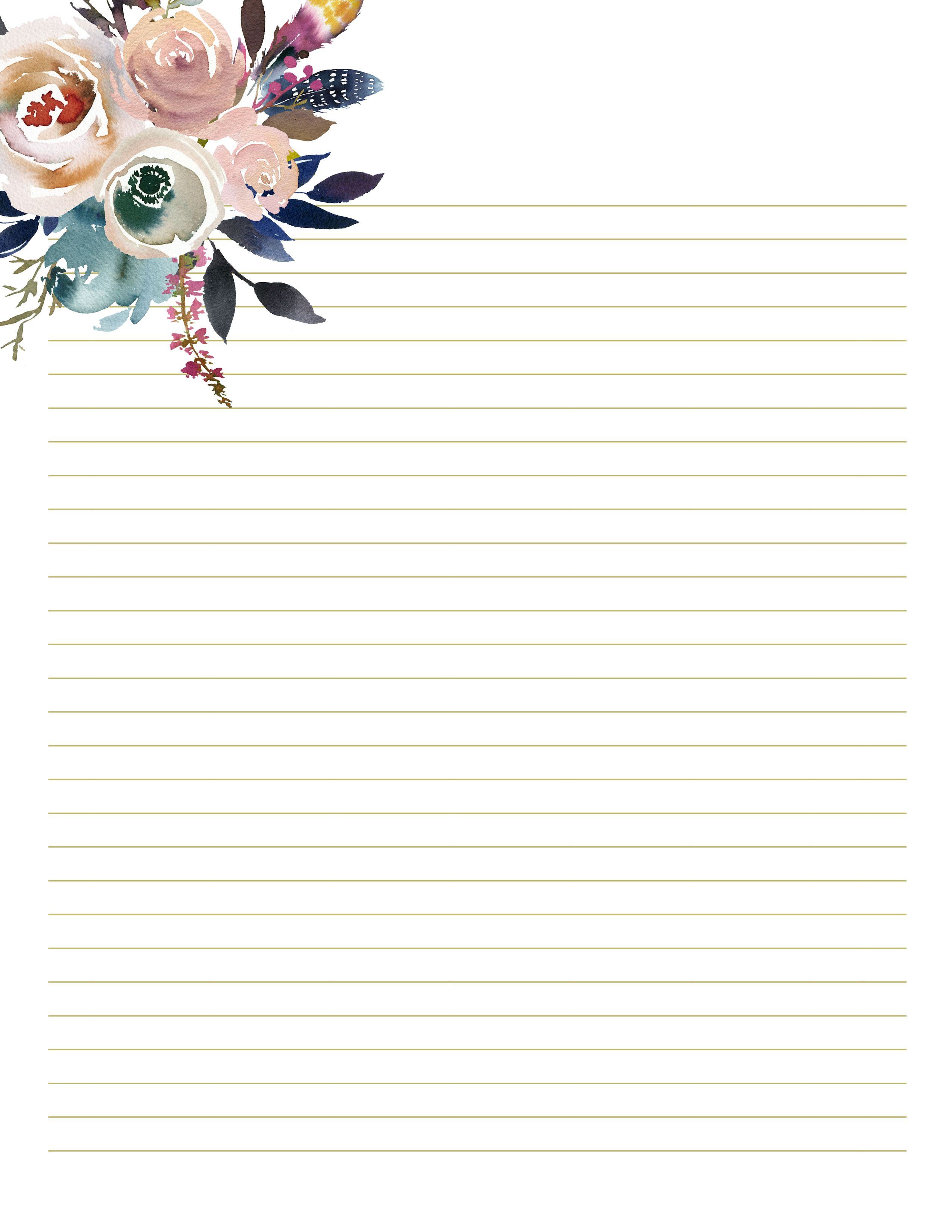 It's just a photo of Printable Stationery within journal