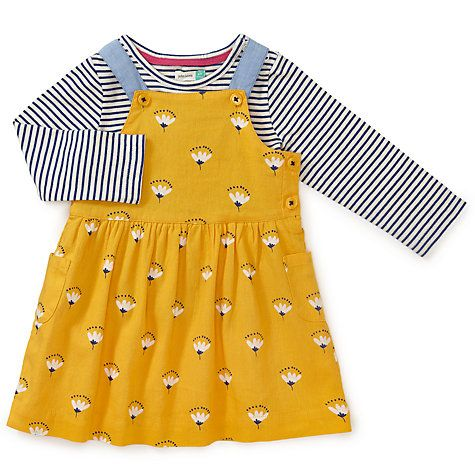 6649057d2252 Buy John Lewis Baby Floral Dress and T-Shirt Set, Yellow Online at johnlewis .com