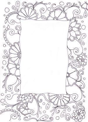 Zentangle By Estela Art Pinterest Doodles Doodle Borders And