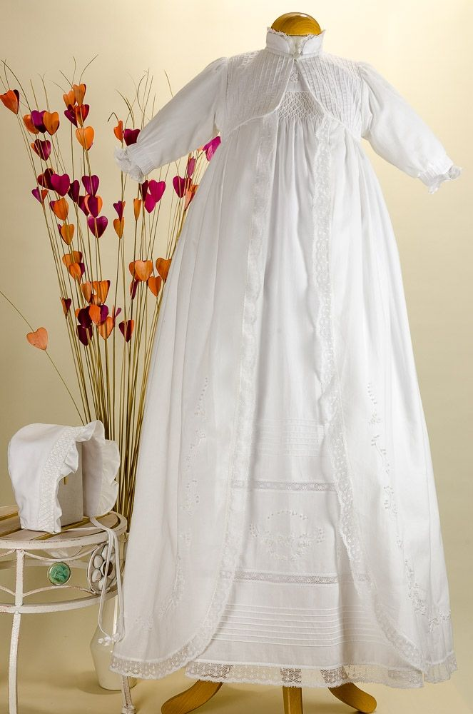 Pretty Originals Style BD539 White Cotton Heirloom Gown with Full Overlay