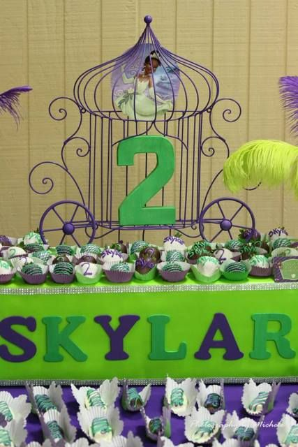 Princess And The Frog Birthday Party Treats See More Ideas At Catchmyparty