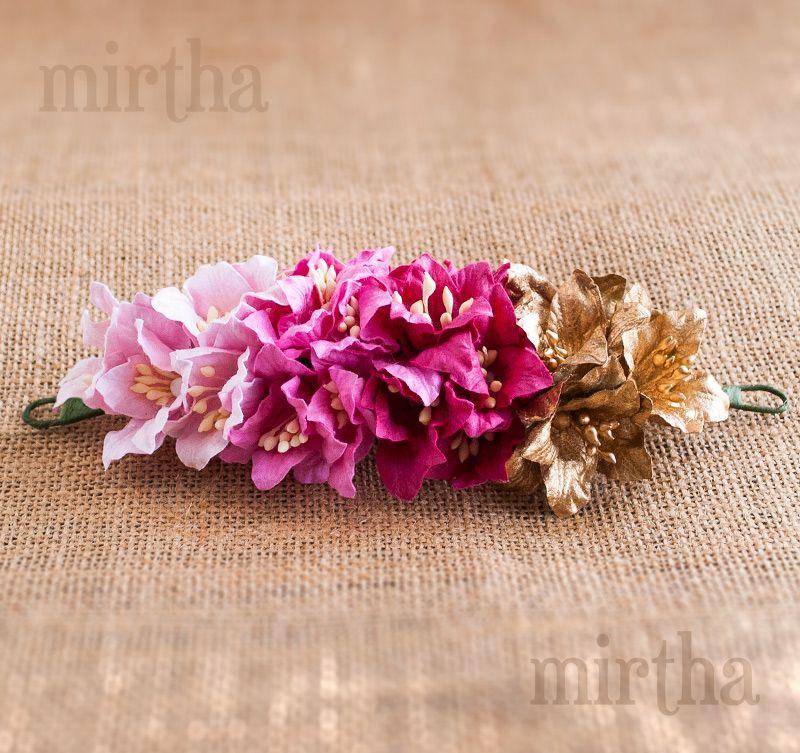 Tocado de flores para el pelo Goldie