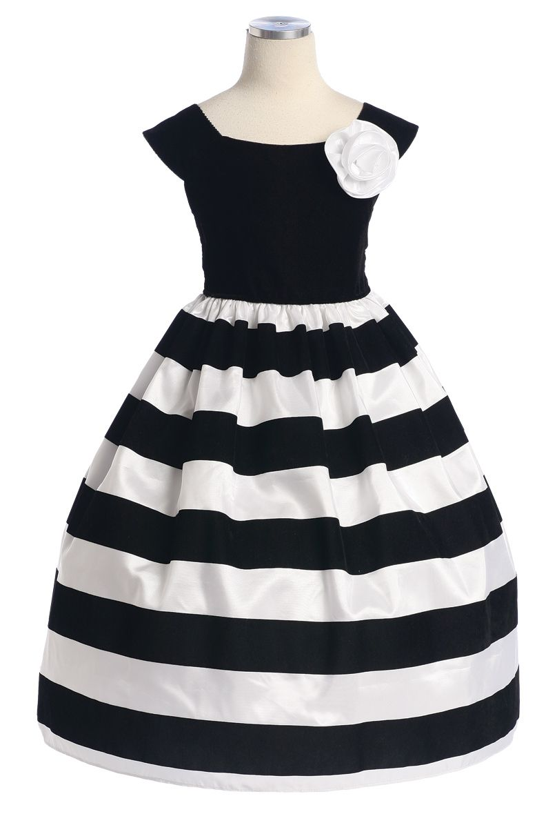 Black And White Striped Dress For Girls Thank Heaven For