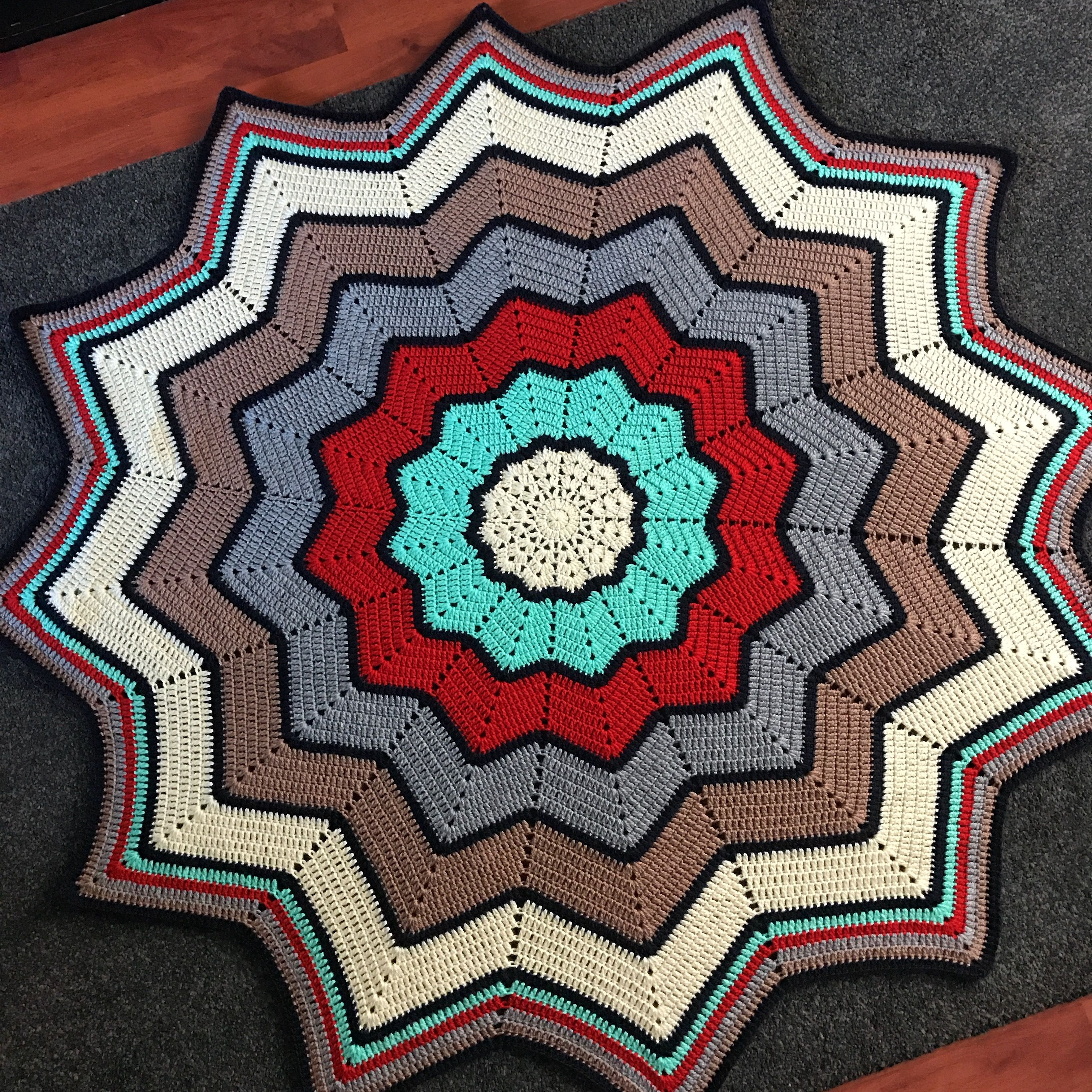 Crochet 12 point star blanket pattern is the round ripple crochet 12 point star blanket pattern is the round ripple blanket 12 pointed star by bankloansurffo Images