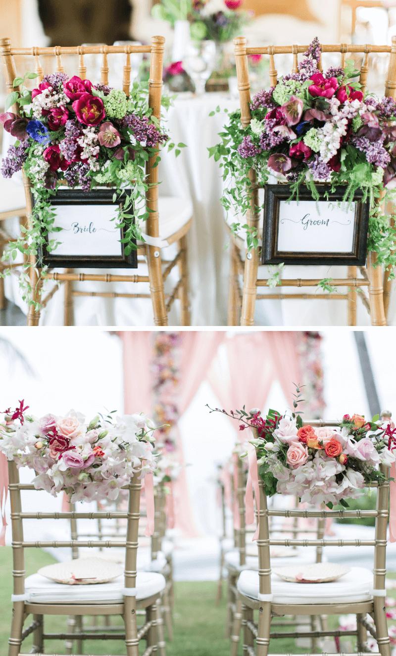 40 Hochzeits-Stuhldeko Ideen für das Brautpaar und die