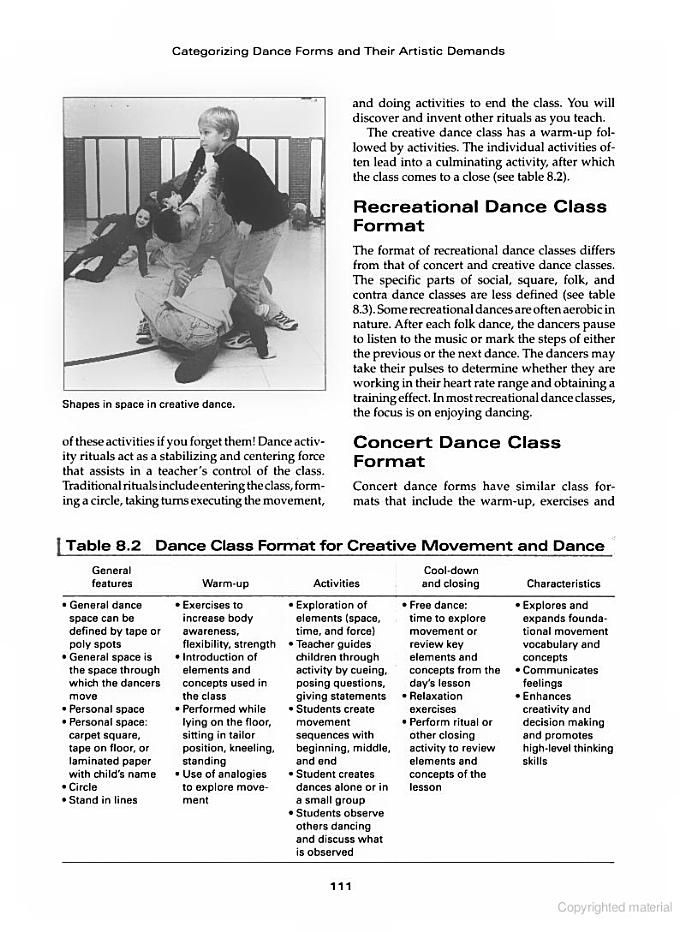 Dance Teaching Methods and Curriculum Design - Gayle Kassing - contract of service format