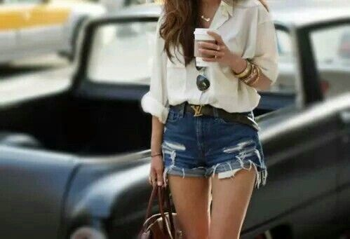 Women's #Jeans  #Trendy #Cut-Off #Shorts