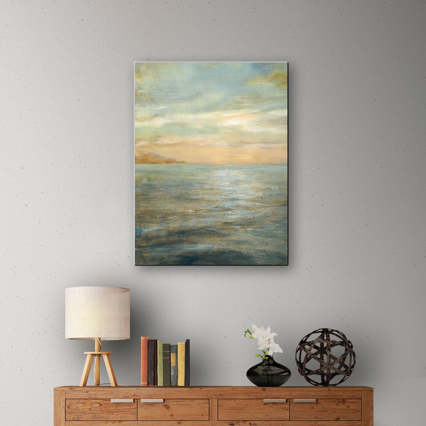 Artwall danhui naius serene sea blue gallery wrapped canvas