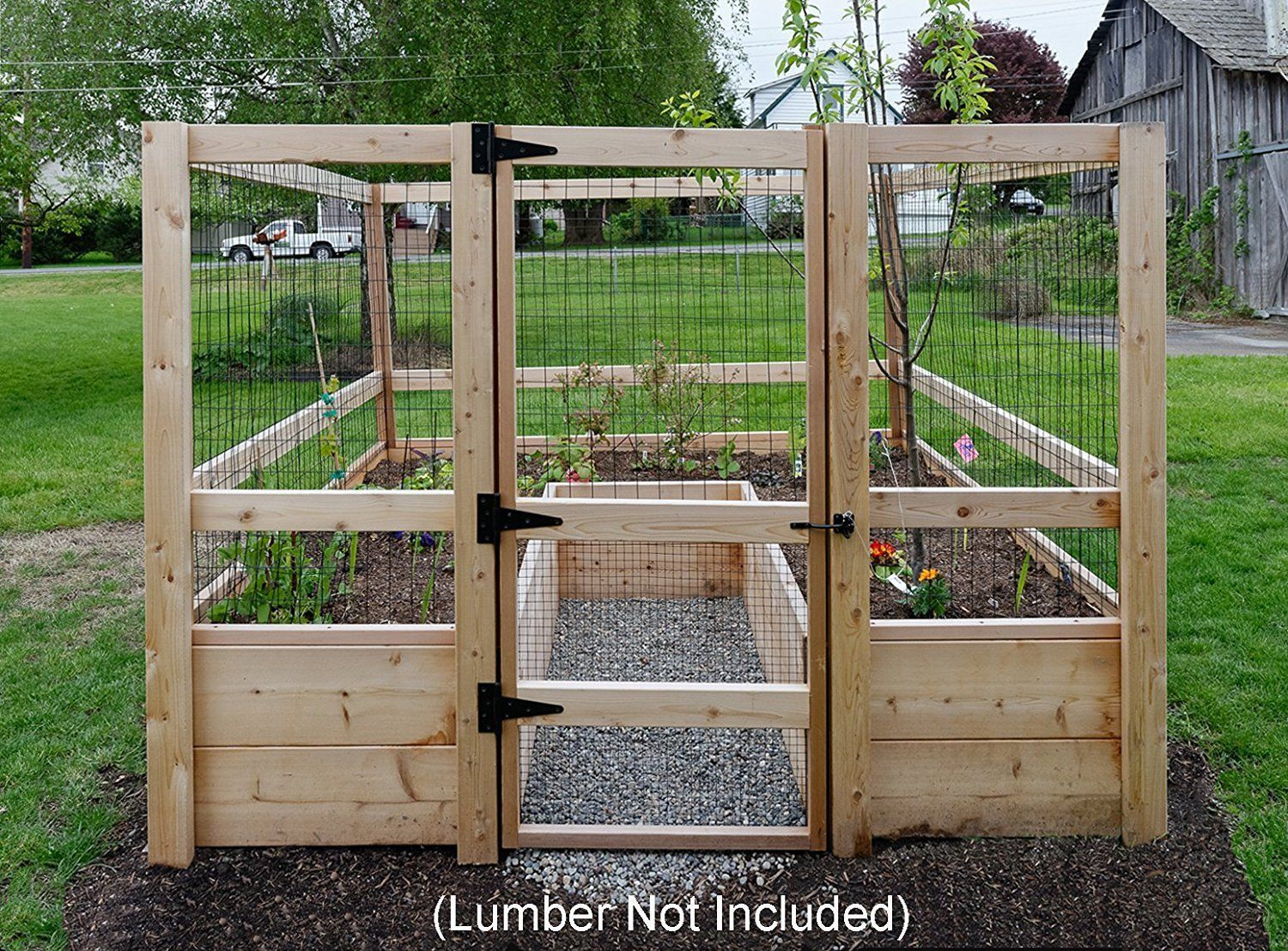 Raised Garden Bed Kit Planter 8 X 8 Fence Gate Hardware Gardening Outdoor Ebay Raised Garden Bed Kits Garden Bed Kits Vegetable Garden Raised Beds