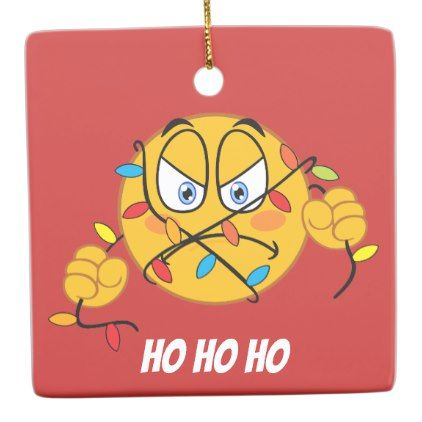 Funny Emoji Christmas Lights Ornament Zazzle Com Emoji Christmas Christmas Light Ornament Christmas Humor