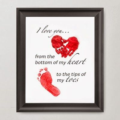 Hand and Foot prints for Kids Valentines day to parents | Food ...