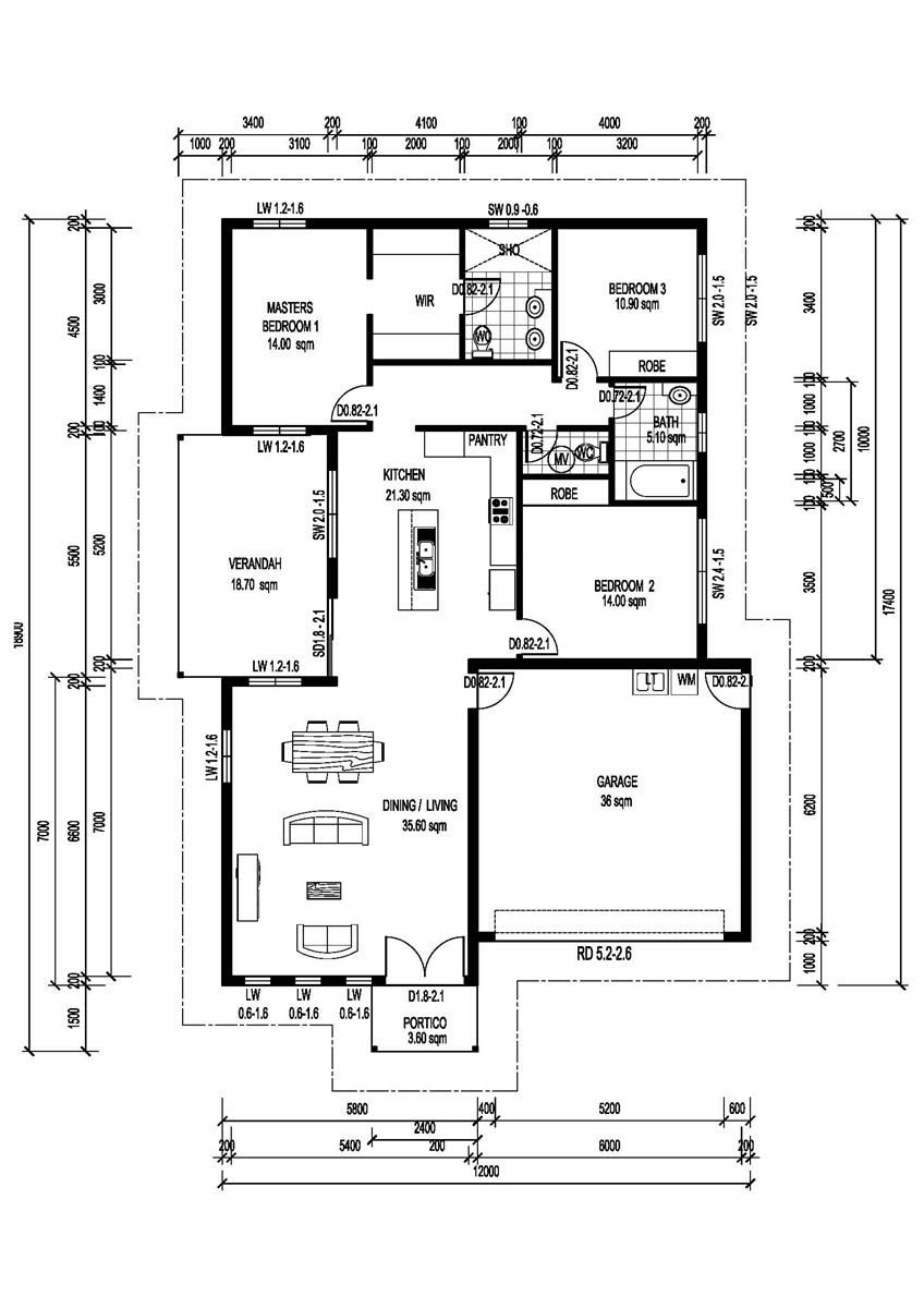Bennison (Skillion Roof) | House plans | Pinterest | House, Bungalow ...
