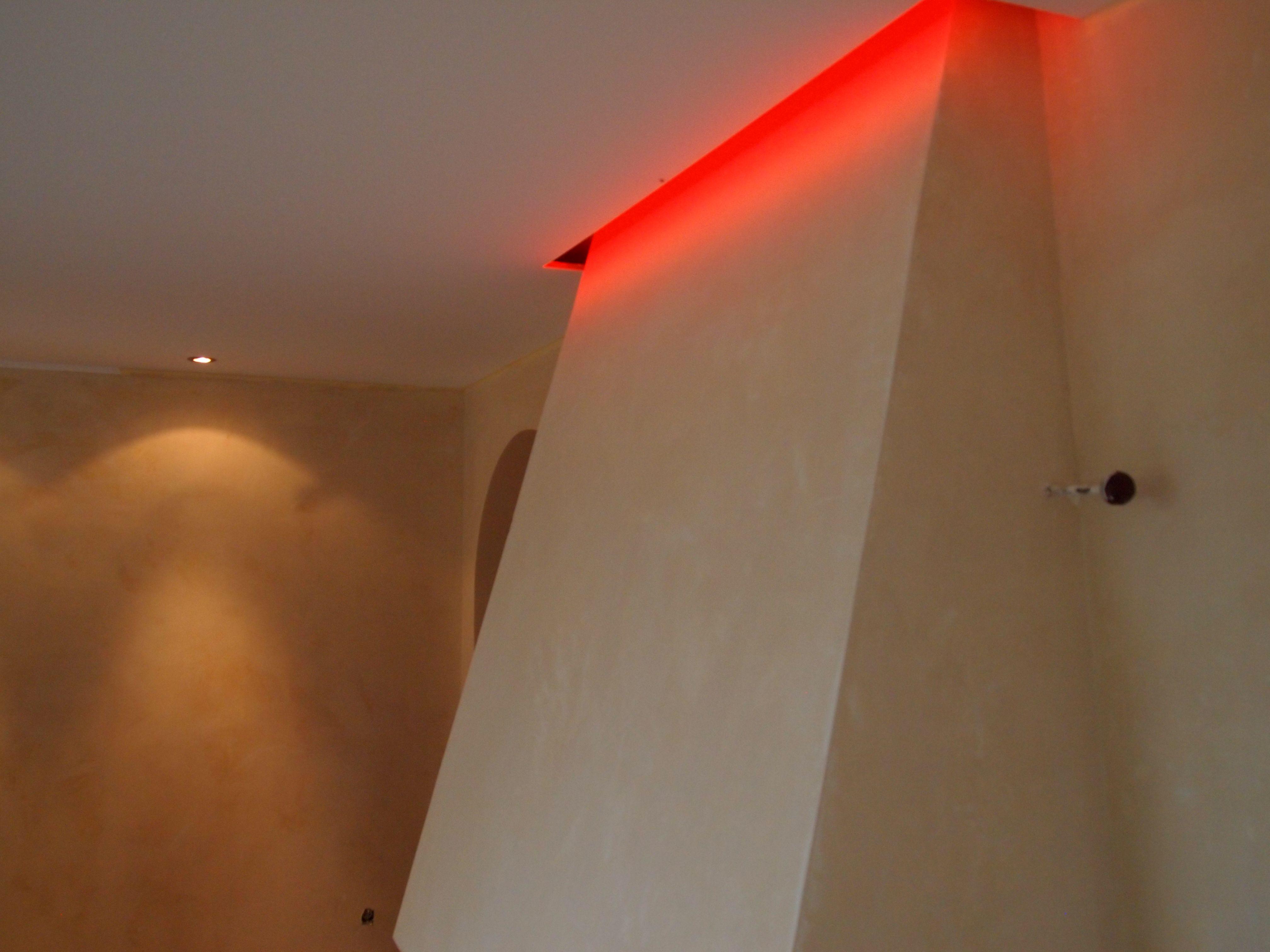 Decke mit LED Schattenfuge Wand mit Pigment Spachteltechnik ...