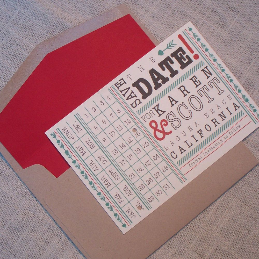Wedding Save the Date - Karen Fresh and Quirky Punch Card | Cards ...