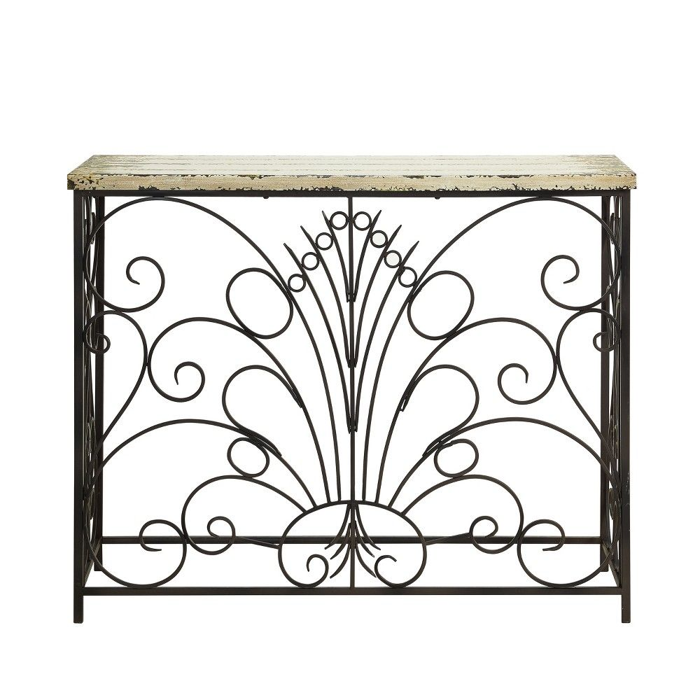 Garrick Console Table Distressed