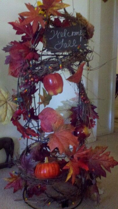 Tomato Cage Fall Decoration Fall Decor Holiday Decor