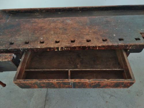 Vintage Industrial Wooden Mahogany Cabinet Makers Steinway Woodworker Workbench Woodworking Workbench Mahogany Cabinets Woodworking