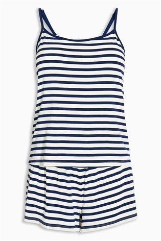 Buy Navy/White Stripe Short Sleep Set from the Next UK online shop