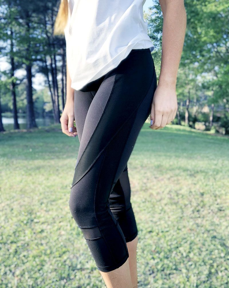 bdb587ac421 Mesh and leather work out leggings - Athleisure - Calia By Carrie Underwood
