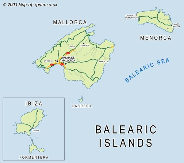 Where Is Mallorca Map Mallorca Menorca And Ibiza Ibiza Map