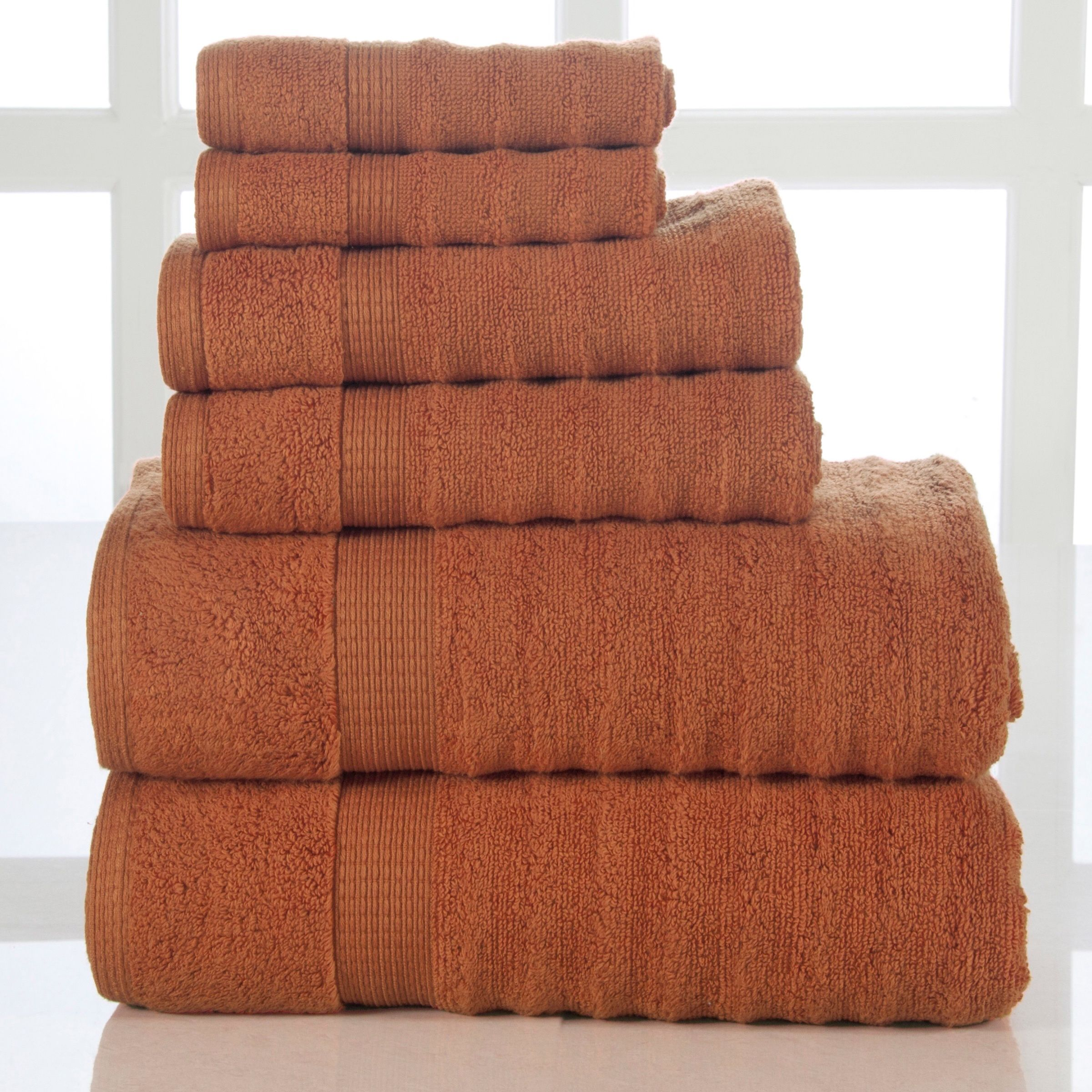 A great addition to any bathroom, this bath towel collection feels extremely soft against your skin. The towels are absorbent and durable for years of use. They are available in an array of color options.