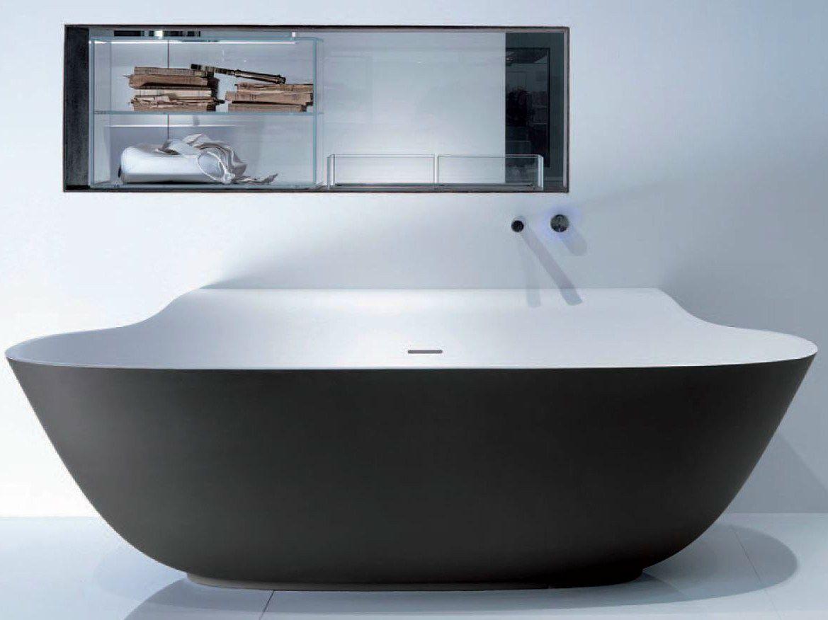Vasca Da Bagno Ovale : Vasca da bagno ovale in cristalplant collezione scoop by falper