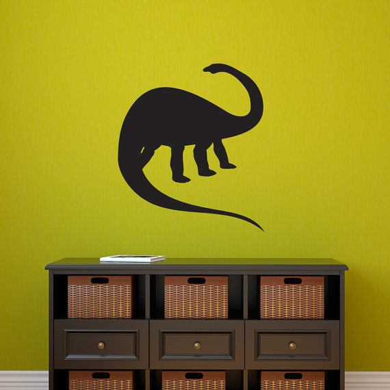 Apatosaurus Dinosaur Wall Decal - Brontosaurus Wall art on Etsy ...