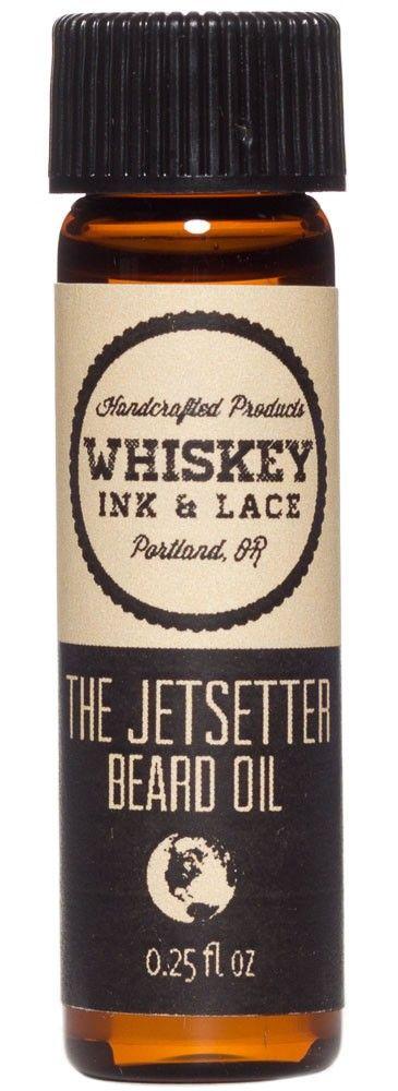 WHISKEY INK & LACE THE JETSETTER BEARD OIL $6.00 #guys #grooming #beard #beardoil #dapper
