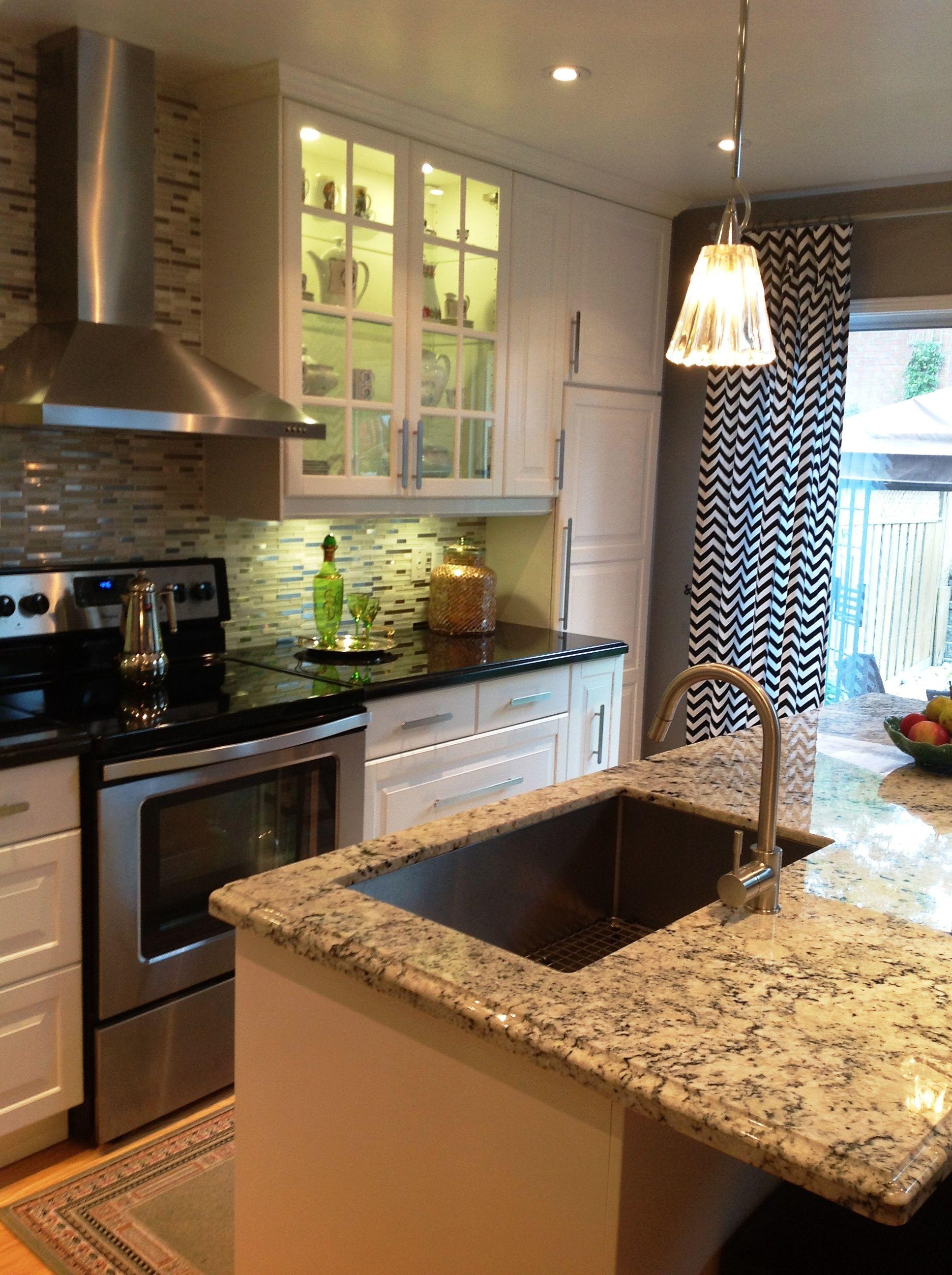 Gray Tile Backsplash Kitchen