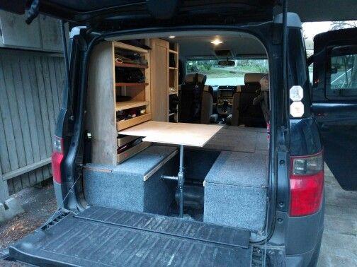 Honda Element Conversion >> Pin By Chesh On Camper Van Decor Inspiration Honda Element