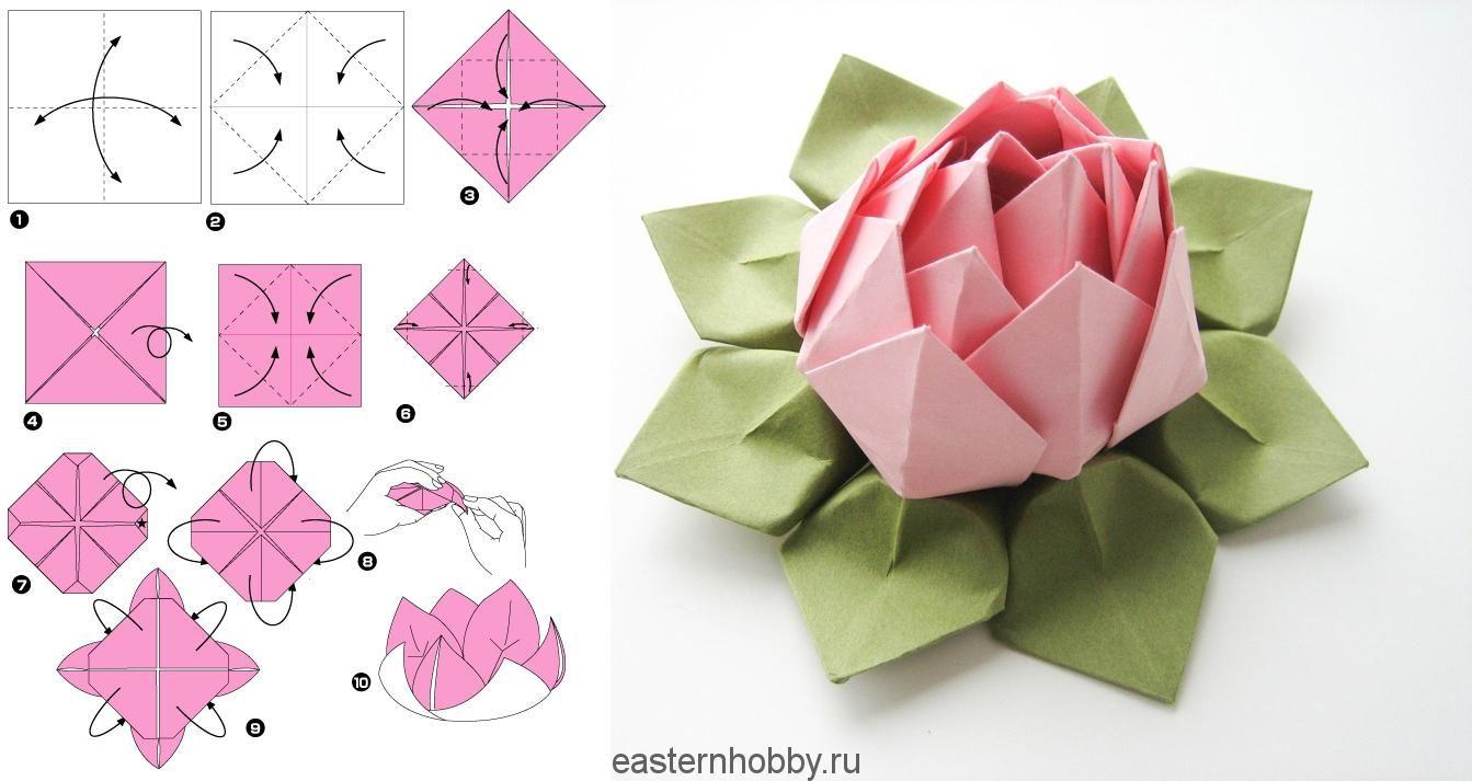 Легкие оригами из бумаги цветы картинки