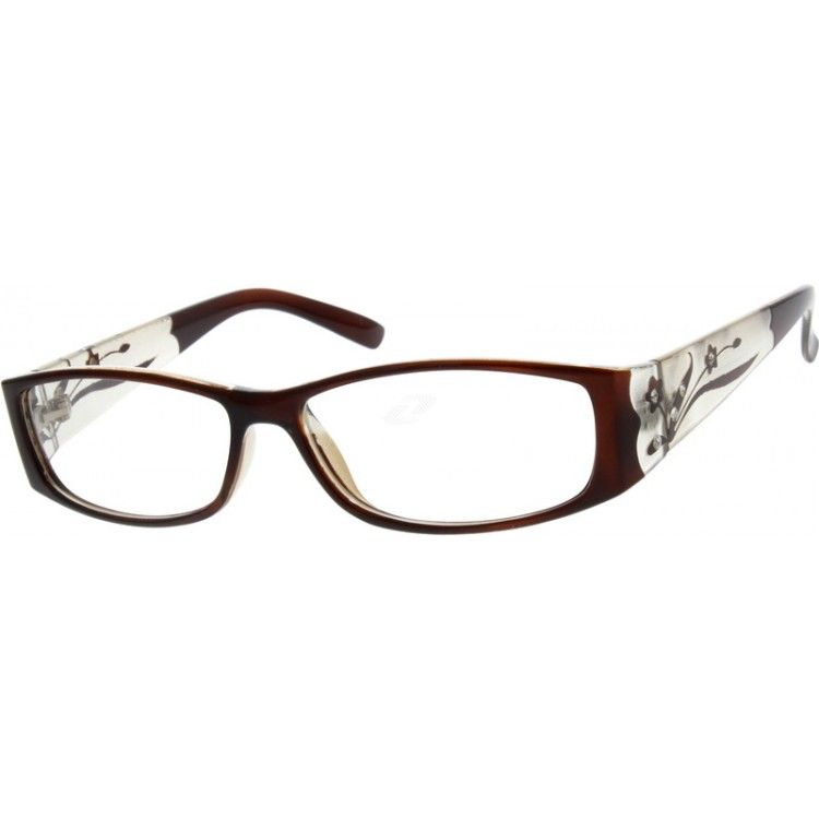 Brown Plastic Fashion Full-Rim Frame #339215   Zenni Optical Eyeglasses