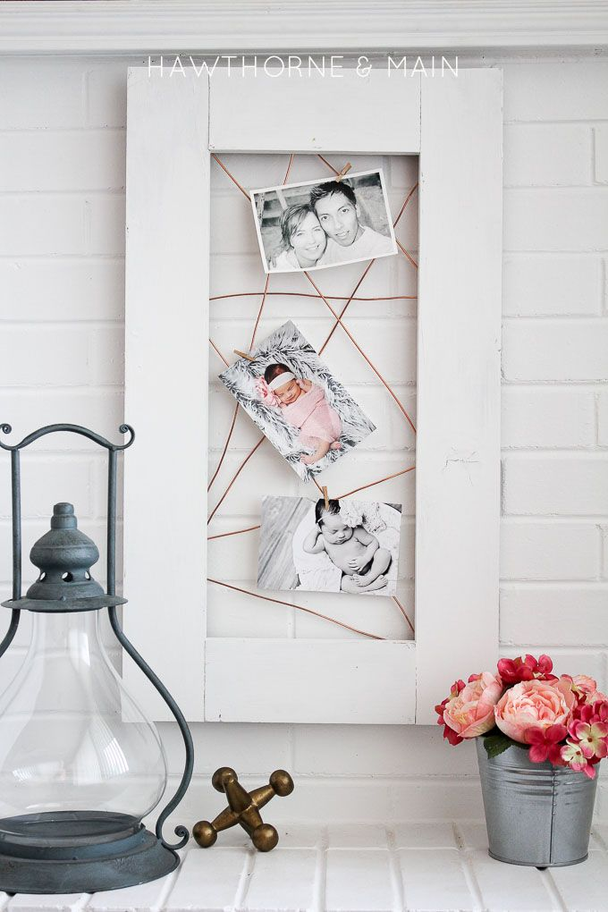 Copper Wire Photo Display Hawthorne And Main Diy Photo Display Copper Diy Inexpensive Home Decor