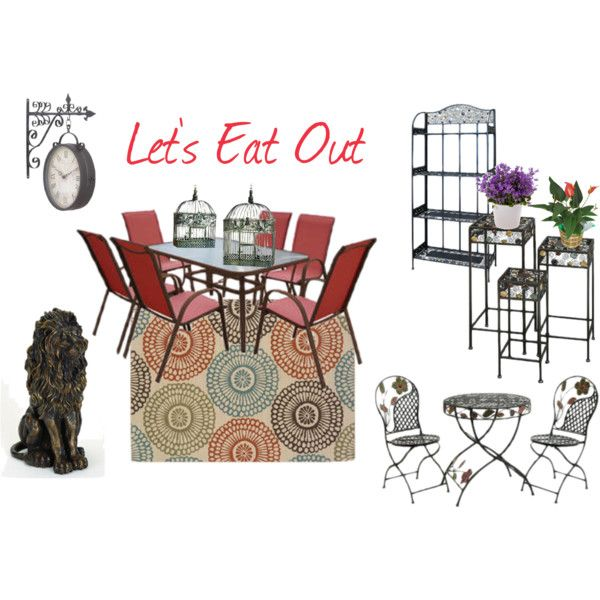 Let S Eat Out Outdoor Seating Ensemble Arranged In