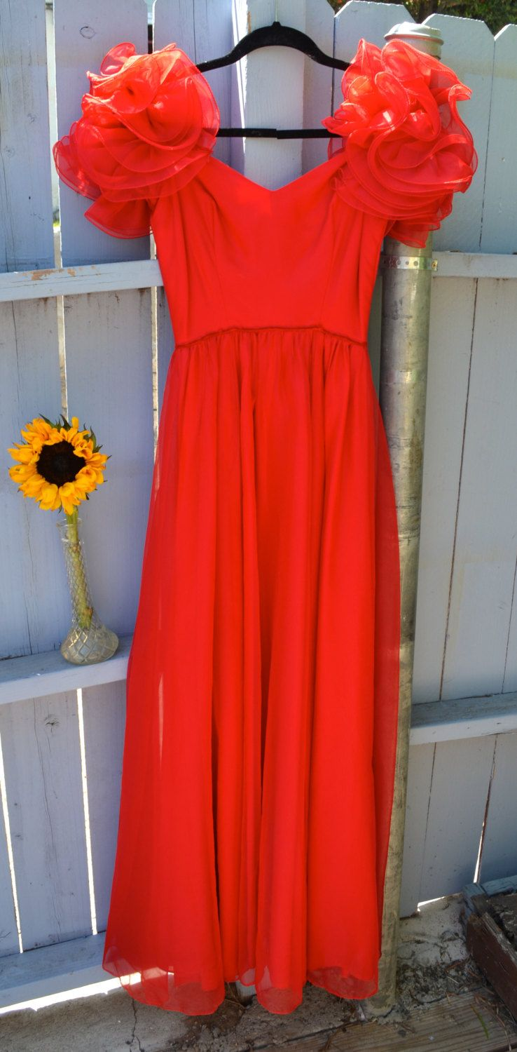 Gorgeous Red Gown by LetThemEatCakeLA on Etsy, $95.00