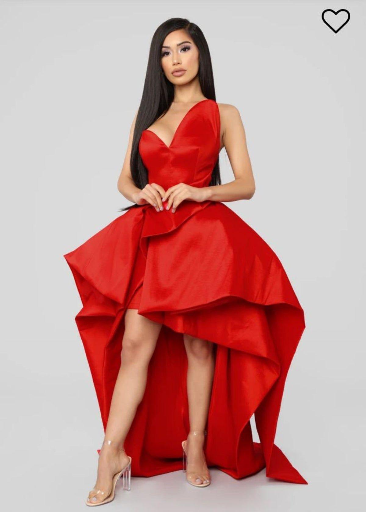 Red Fashion Nova Dress Red fashion, Fashion nova dress