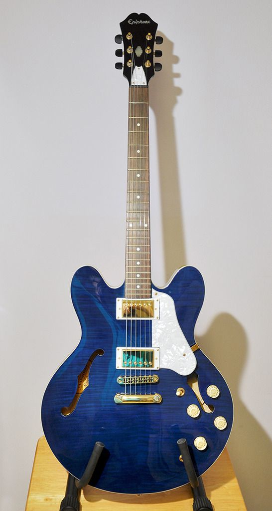 Epiphone Dot Deluxe 2000 (Korea) in rare flame blue Upgraded with
