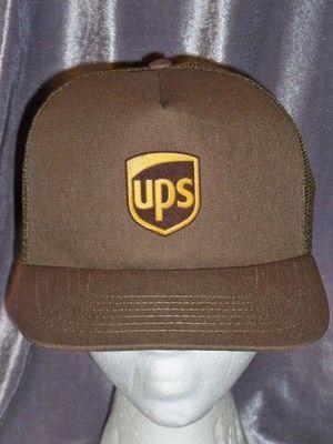 15db089f5dd United Parcel Service (UPS) Snapback Trucker Mesh Baseball Cap Hat NWOT