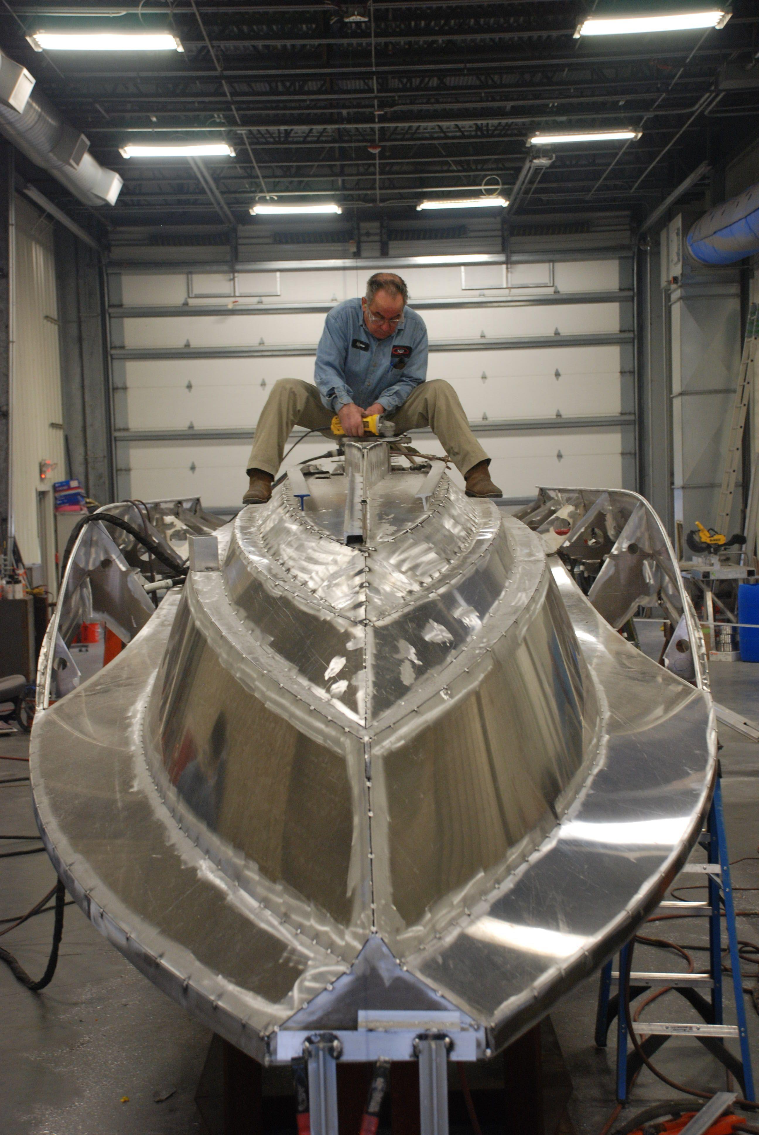 Aluminum hull being built in 2019 | Boat, Aluminum boat ...