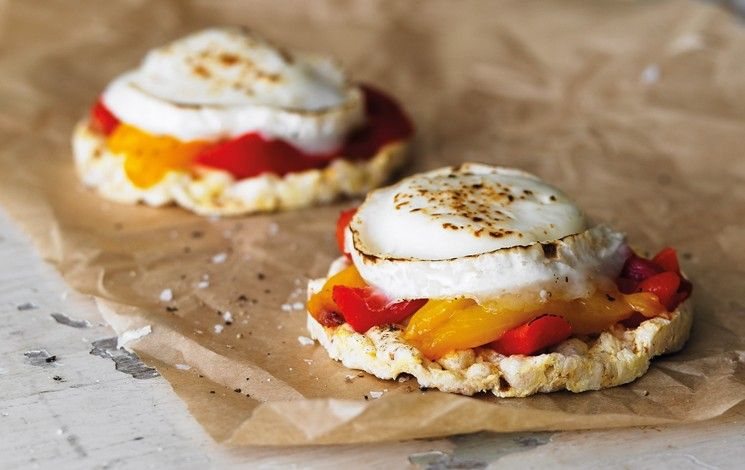 Jeez louise with grilled goats cheese rice cakes rice