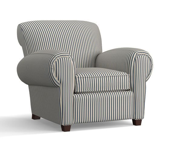 Manhattan Upholstered Armchair Print And Pattern