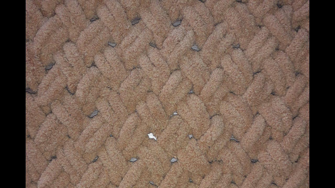 узор для пряжи петлями Puffy Alize узор рогожка плетенка