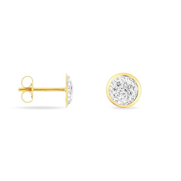 Boucles d'Oreilles Puces Cercles Strass - B3OFJPW2850 - Histoire d'Or