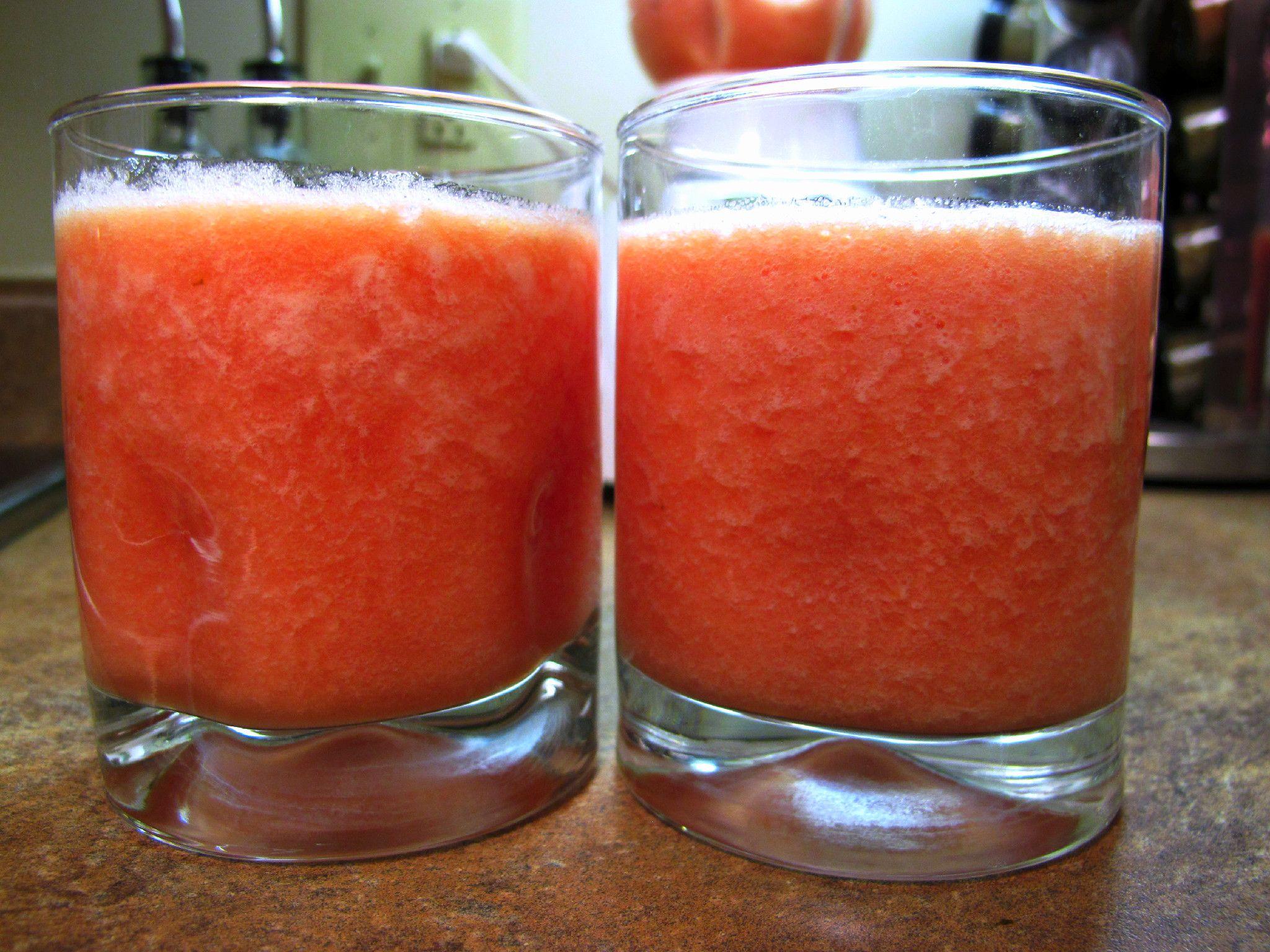 Watermelon,pineapple and lime slushy