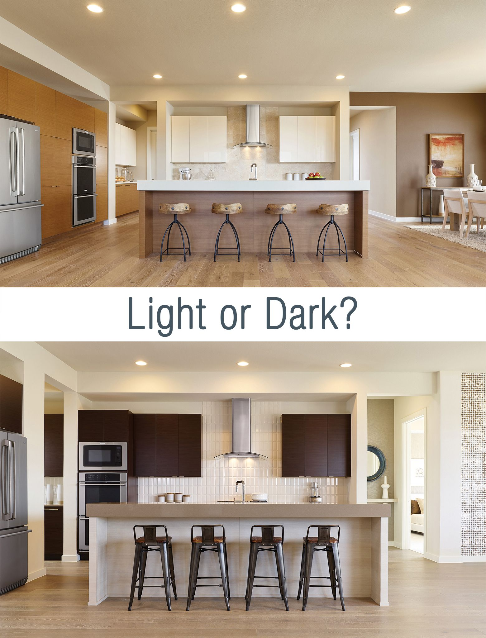 Which do you prefer for your dream kitchen Light or dark