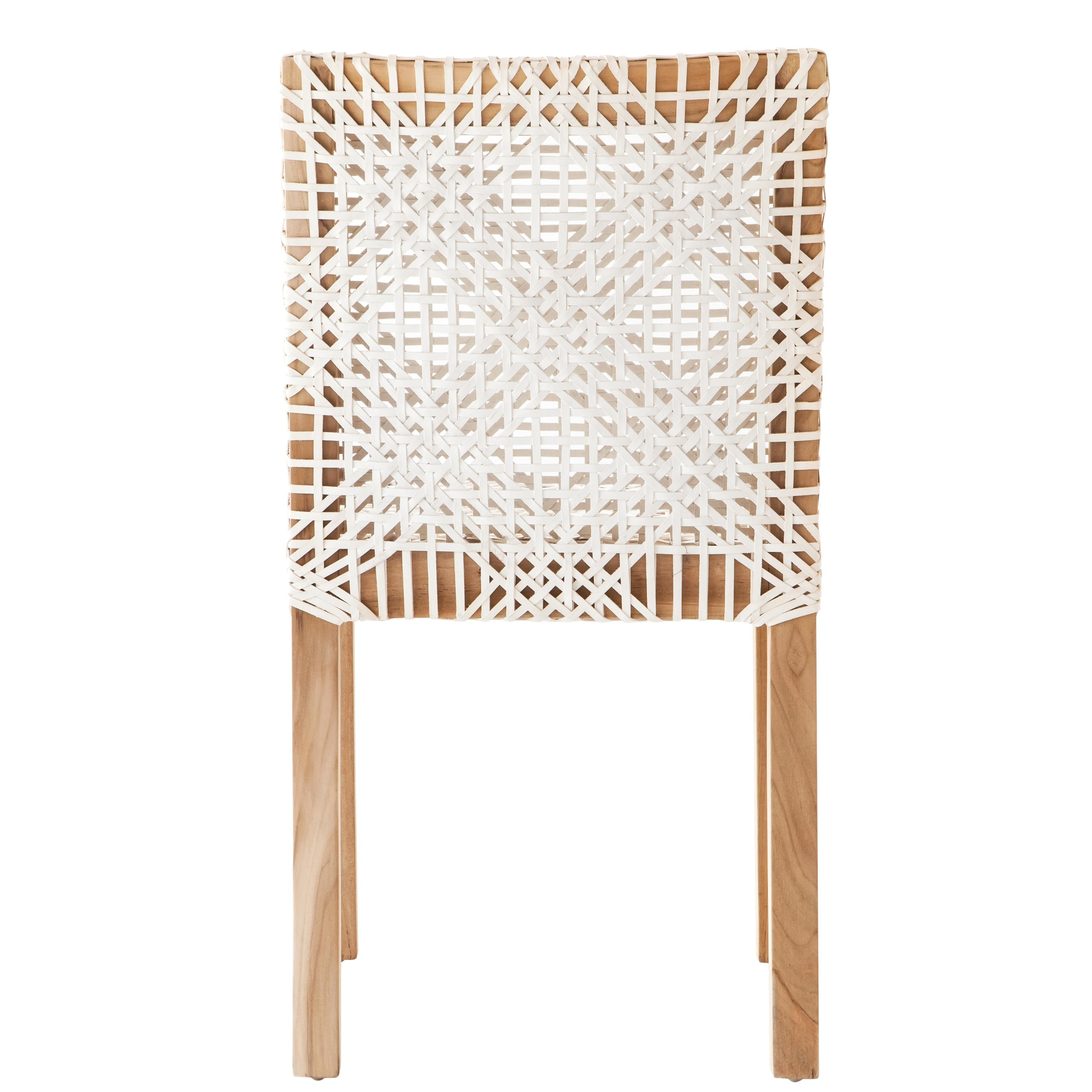 Evon dining chair woven leather