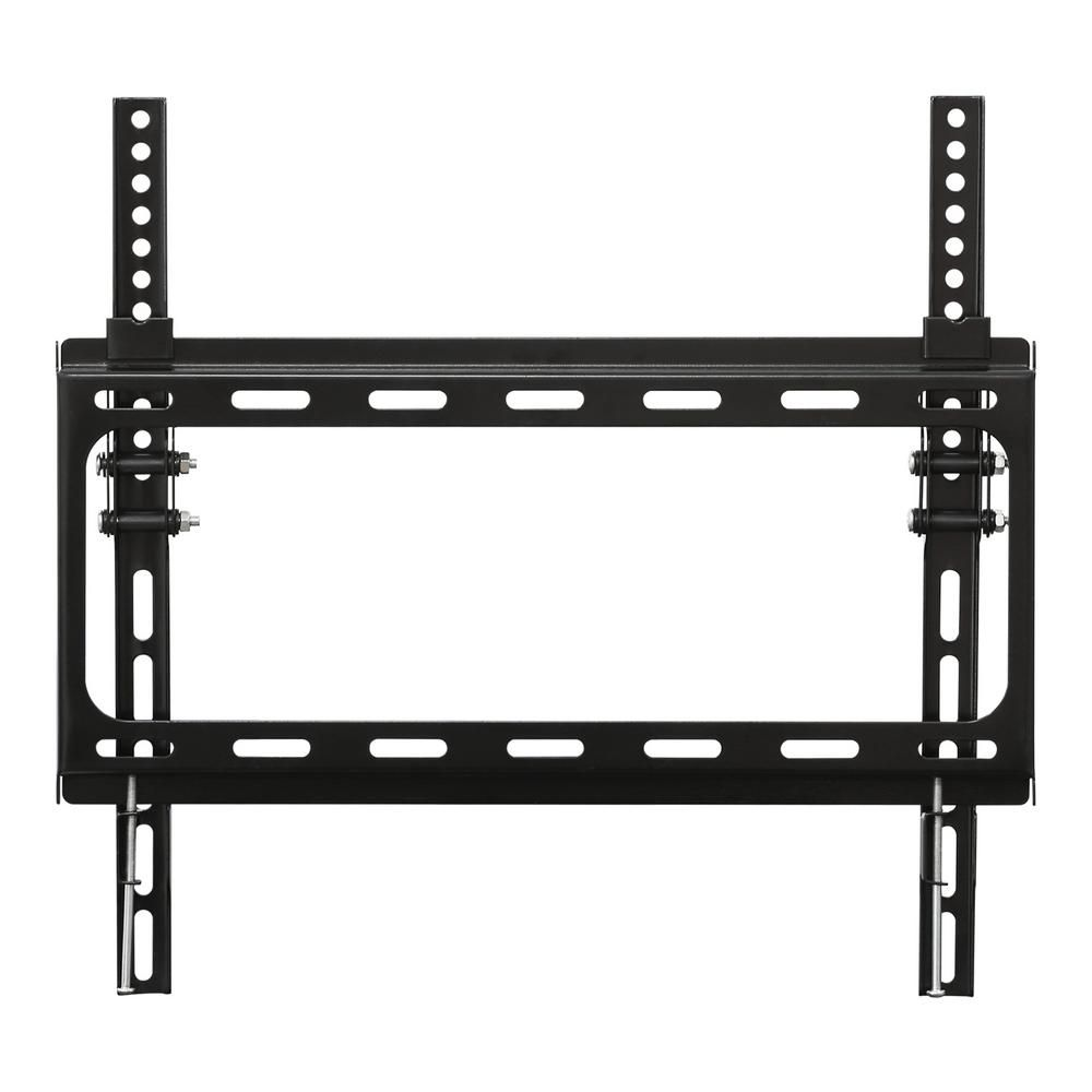 Furinno Modern Wall Mount Tv Bracket For Tv In Black Wall